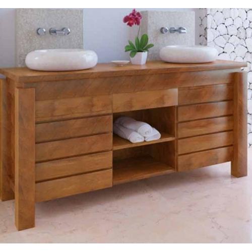 Meuble bas de salle de bain teck l gian for Nettoyer meuble teck