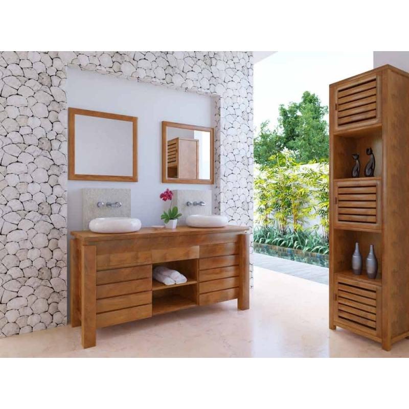 Meuble haut de salle de bain teck Légian--