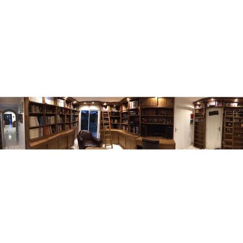 Aménagement rayonnements, bibliothèque