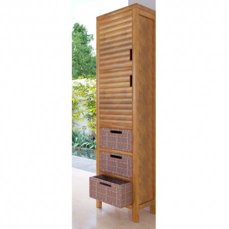Meuble haut de salle de bain teck sumatra for Meuble de tele haut