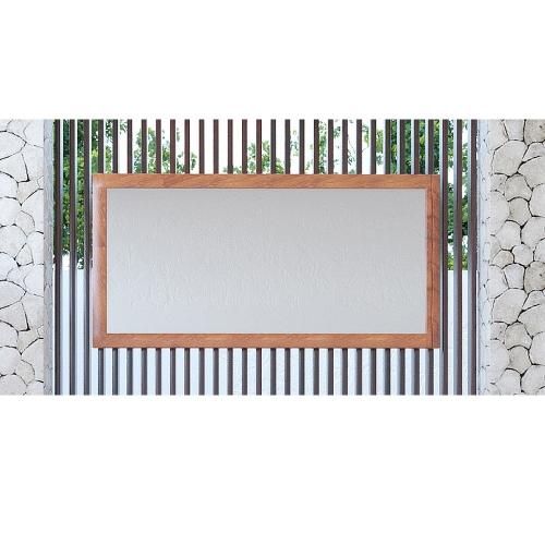 Miroir de salle de bain teck Java