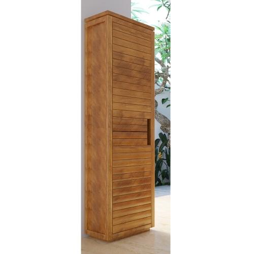 Colonne de salle de bain teck Solo 2 portes