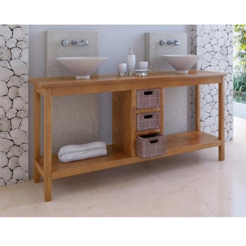 Meuble de salle de bain teck Kuta 3 tiroirs