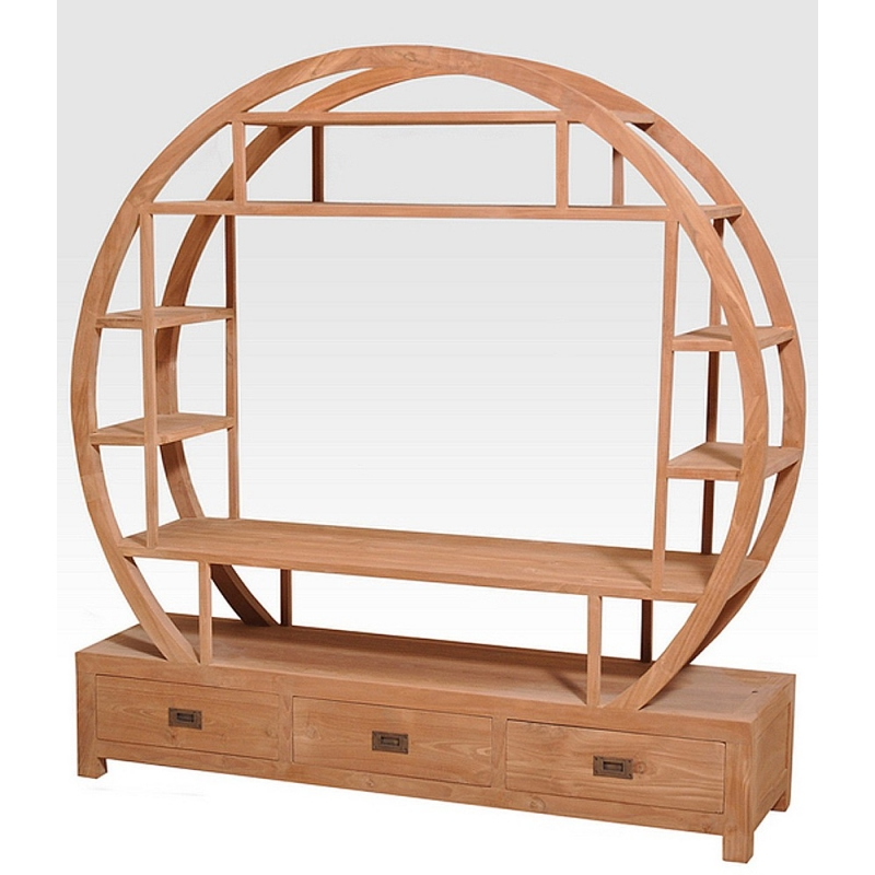 Meuble tv tag re ronde for Meuble tv etagere