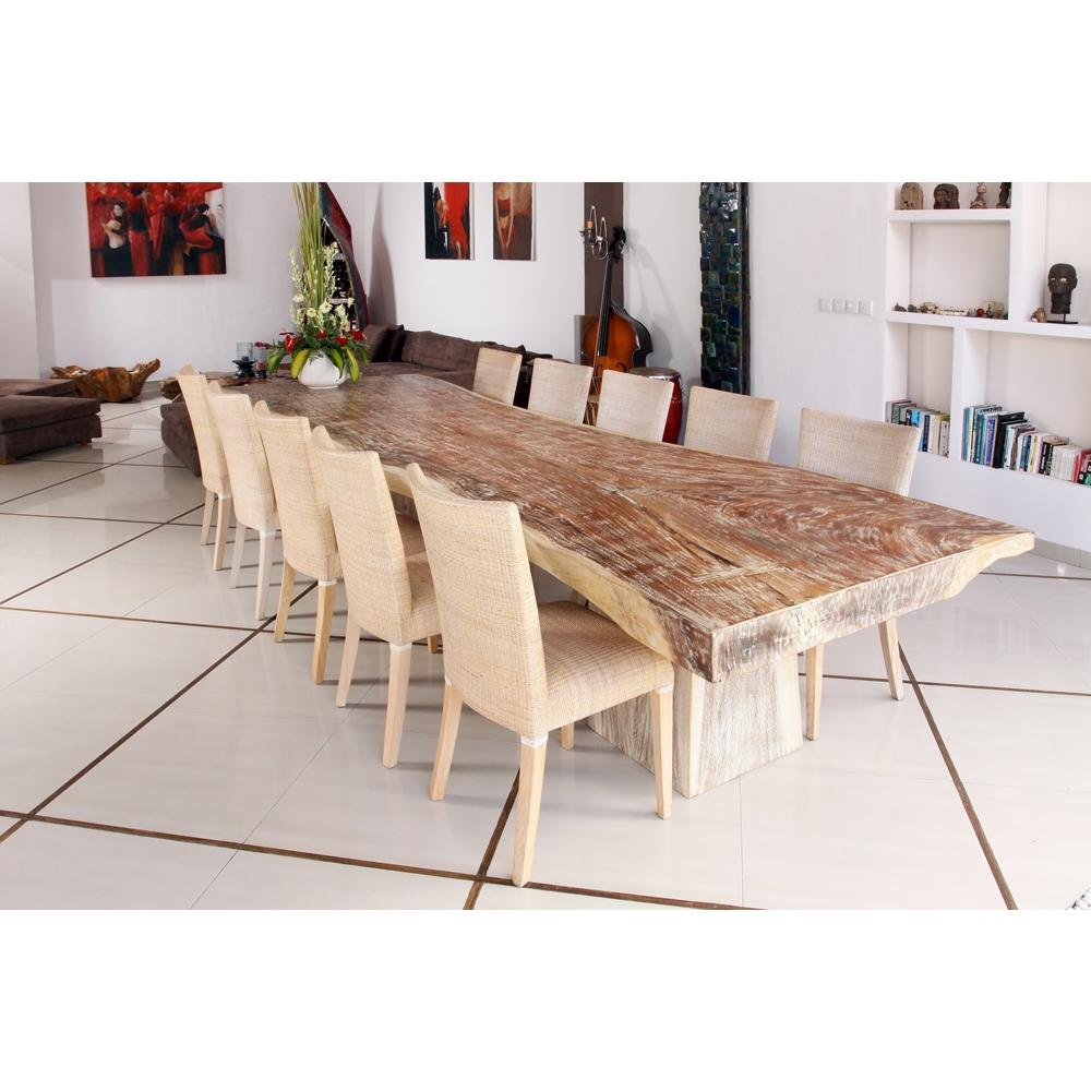 table de salle à manger suard wood raha--