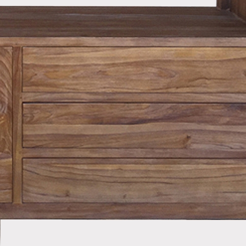 Etagère teck massif Puket 2 portes 3 tiroirs
