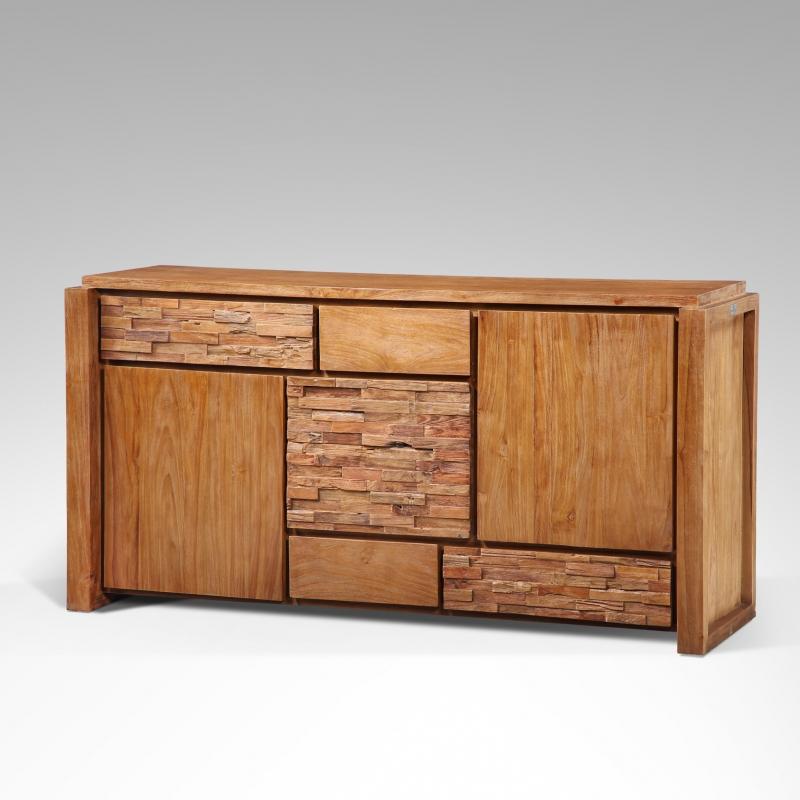 buffet teck naturalia. Black Bedroom Furniture Sets. Home Design Ideas