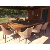 Table salle à manger en terrasse