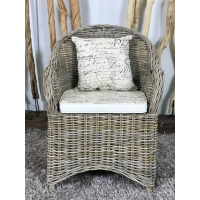 Fauteuil Lio Rotin taupe
