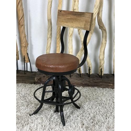 Chaise Konga cuir et métal