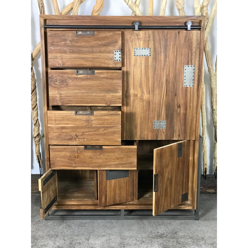 buffet haut industriel excellent large size of meilleur mobilier et meuble tv haut porte. Black Bedroom Furniture Sets. Home Design Ideas
