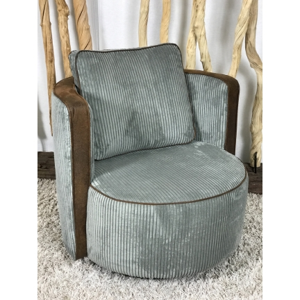 Fauteuil Kenza Harlem velours