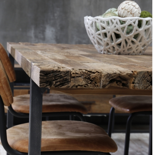 Table Old Wood Industriel