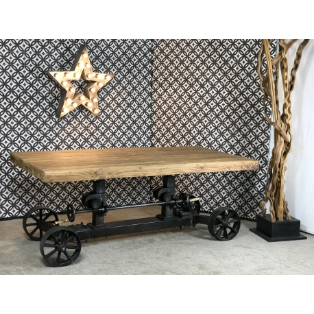 Table Chariot Plateau Roots Industriel