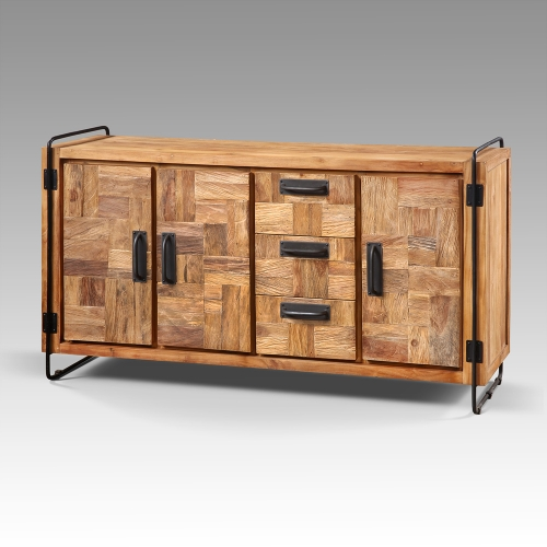 Buffet Puzzle Chic 3 portes 3 tiroirs
