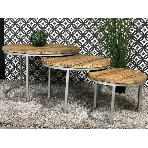 Set de 3 tables rondes Jodphur