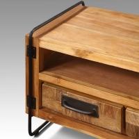 Meuble TV retro Chic 3 tiroirs Industriel